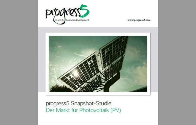 "progress5 PV Snapshot-Survey: Photovoltaic market challenges. Experts and opinions on solar-energy."" title=""progress5 Studie: Herausforderungen im Markt für Photovoltaik (PV)"